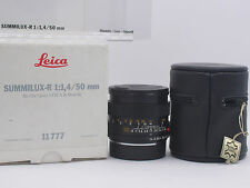 "Leica Summilux-R 50mm f/1.4 MF 3 Cam Lens Pre ROM Boxed ""MINT/Pristine Optics"""