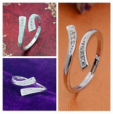 Hot Fashion Elegant Silver Open Ring Adjustable Unisex Jewelry Gift