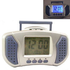 DIGITAL LCD ALARM TABLE DESK CAR Calendar CLOCK with Temperature - A30
