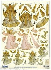 ANGELS ROBE ARCH PRECUT  PAPER TOLE DIMENSIONAL GERMANY CARD  ORNAMENT COLLAGE
