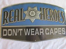 POLICE STATION OFFICER HEROES LAW ENFORCEMENT TIN SIGN MAN HOME DECOR  MANCAVE