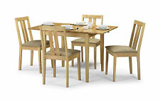 Julian Bowen Rufford Extending Dining Table Set With 4 Chairs In Hardwood