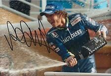 VALENTINO ROSSI Autograph SIGNED YAMAHA 12x8 Photo AFTAL COA Champagne Spray