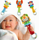 FD1793 Animal Shape Infant Baby Kids Hand Bell Rattle Stuffed Toy ~Random~ 1pc