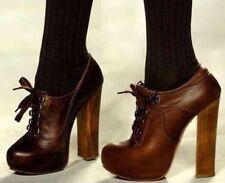 Chloe Silverado Lace Up Bootie Heel NWT Size 37
