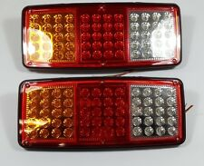 2 x 12V LED REAR TAIL LIGHTS LAMPS 4 FUNCTION TRAILER CARAVAN TRUCK VAN 60 LEDs