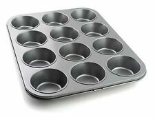 NON STICK 12 CUP CAKE DEEP BUN MUFFIN PIE YORKSHIRE PUDDING BAKING TRAY TIN PAN