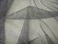 LUREX NET-BLACK/SILVER -DRESS FABRIC-FREE P&P
