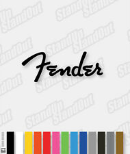 FENDER LOGO STYLE GUITAR / CASE DECAL - 16+ Custom Colours
