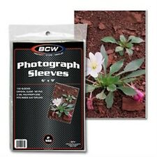 "Photo Holder Sleeves 6""x9"" 100 Count Pack [NEW] Case PIcture Cover Pic BCW"