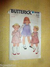 VINTAGE BUTTERICK PATTERN #3526 - PINAFORE & DRESS - GIRLS TODDLER 2