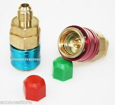 R134a Auto Quick Coupler Bass Adapters Low & High Side AC Manifold QC12