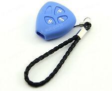 Blue Silicone Protective Case Cover Holder For Toyota 3 Buttons 3BT Remote Key 4
