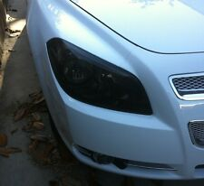 08-12 CHEVY MALIBU SMOKE HEAD LIGHT PRECUT TINT COVER SMOKED OVERLAYS