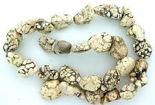 1/2 to 9/10 Inch Nugget Magnesite Buffalo Turquoise Bead Strand 15 Inch Strand
