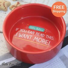 Happy Jackson Pet Bowl Red Fun Cute Small Cat And Dog Water Food Dish Ceramic
