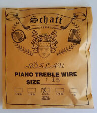 Schaff Roslau Piano Music Treble Wire Size 15 .035 1/3 Lb Coil 102' w Brake
