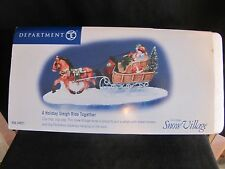 1999-MINT Department Dept 56 A Holiday Sleigh Ride Together Snow Village RETIRED