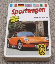 SPORTSWAGEN - VINTAGE BOXED PACK OF QUARTET PLAYING CARD GAME - FX SCHMID