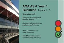 AQA GCE AS & Year 1 Business Revision Guide Topics 1-3
