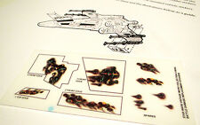 STAR WARS MICRO REPLACEMENT STICKERS - DECALS - clear X-WING BATTLE DAMAGE +