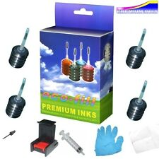 BLACK INK CARTRIDGE REFILL KIT FOR HP ENVY 4500 4502 4504 4507 5530 5532 PRINTER