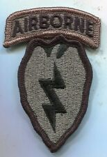 US Army 25th Infantry Airborne ACU Patch W/Tab 1 Piece