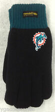 NWT NFL Miami Dolphins Mens  Winter Knit Gloves NEW!