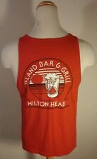 Vtg 80's Hilton Head Island Bar & Grill Tank Top T Shirt Surf Sail Boat Sunset L