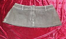 Very Short  Length Grey Denim Cowgirl  Micro Mini Skirt Size 12