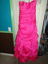 Alfred Angelo Fuschia (Pink) Bridesmaid Dress Size 2 #7261 Valued at over $280