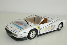 BBURAGO BURAGO FERRARI TESTAROSSA SPIDER SPECIAL PAINT NEAR MINT CONDITION