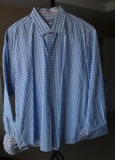 Men's Robert Graham 'Enrico' Dress Shirt Cards Accent with French Cuff XXL/18.5