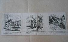 Vignette Caricature 1860 - Escrime Le père Neptune maitre d'armes