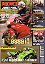MOTO JOURNAL 1324 CAGIVA 125 Planet DUCATI 900 SS Super Sport YAMAHA XJ 600 S 98