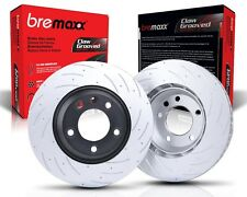 Bremaxx SLOTTED new brake disc rotors front for Landrover Discovery II 2 V8, TD5