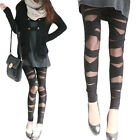 Women's Favorite Chic Black Sexy Great Ripped Bandage Cut-Out Capris Leggings