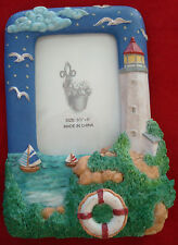 Fun 3D lighthouse/ocean/sailboat themed picture frame