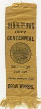 """1884 CENTENNIAL ~ MIDDLETOWN CONNECTICUT ~ """" BREAD WINNERS """""""