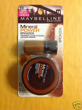 Maybelline Mineral Power Bronzer Shimmer Loose Powder ( Sunset Bronze #610) NEW