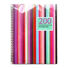 A4 Premium Wirebound Notebook - 200 Pages – Ruled, Perfed, Punched