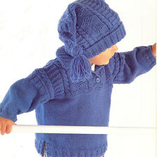 Knitting Pattern-Childs Over Tunic & Hat pattern in DK- fits 0-8 years