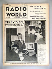 Radio World - May 22, 1926 -- TV demonstrated for 1st time to public