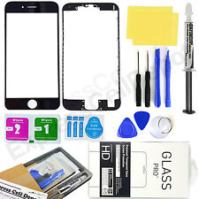 for Apple iPhone 6S Plus, Black Front Outer Screen Glass Lens Replacement kit