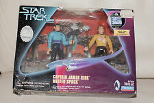 STAR TREK PLAYMATES AMOK TIME SET KIRK AND SPOCK ACTION FIGURE - RARE! IN EUROPE