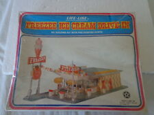 NIB VINTAGE  LIFE-LIKE HO SCALE FREEZE ICE CREAM DRIVE-IN 1960'S DRIVE-IN