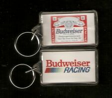 Budweiser Racing Plastic Key Ring