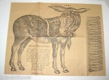 NOS Antique Pin The Tail On the Donkey Game c: 1915 Original Cellophane Package