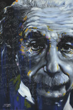 "Albert Einstein LAMINATED POSTER ""E=MC2 Stephen Fishwick It's All Relative"" NEW"
