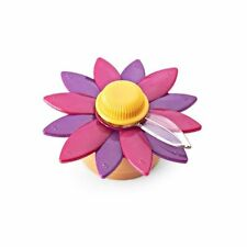 Kizmos Kitchen Timer Magnetic Floral Purple Flower Spring Operated Mechanical